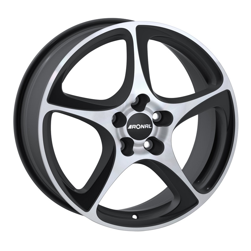 Ronal R53 Black Silver ET45 7X16 5/112